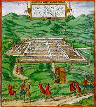 Cuzco 16th century lithograph