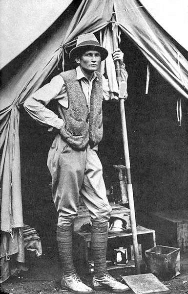Hiram Bingham at Machu Picchu in 1912