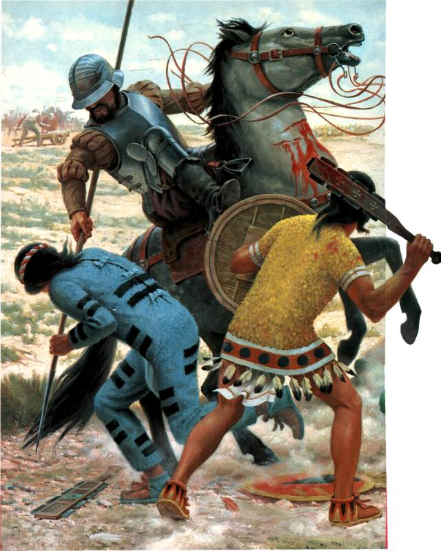 spanish vs aztec weaponry essay The aztecs greatly outnumbered the spanish, but with the weapons the spanish  had and the disease they brought they were able to take down.