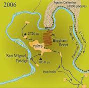 Map of Machu Picchu area in 2006
