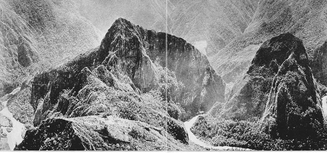 Machu Picchu and Urubamba River by Hiram Bingham in 1912