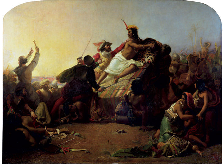 Francisco Pizarro Seizing the Inca Emperor, Atahualpa