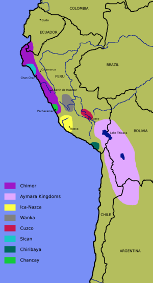 A map of the Nazca Culture, which flourished in Peru
