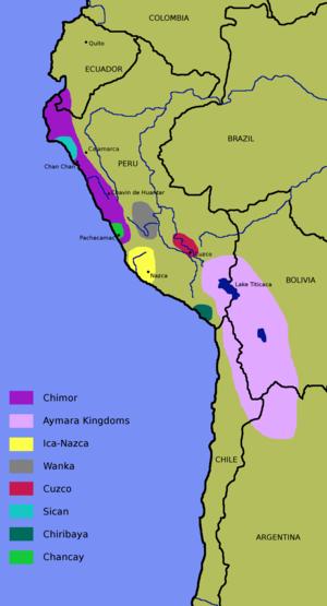 A map of the Nazca Culture, which flourished in Peru