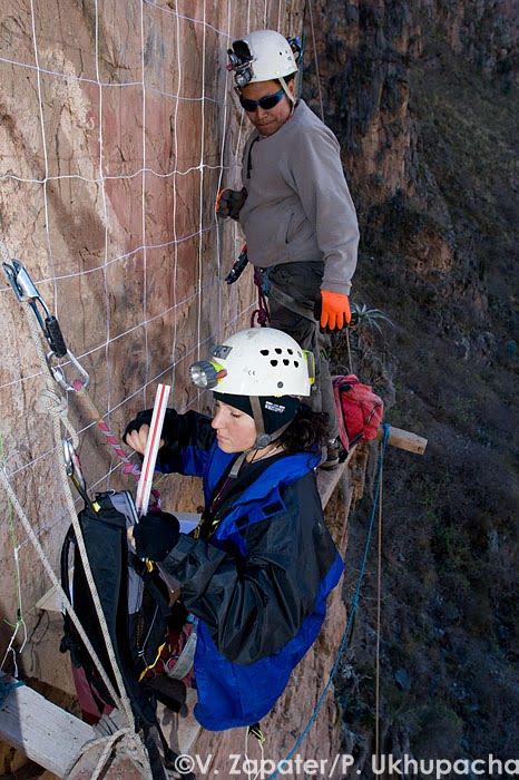 Ukupacha Project Investigators Study Manco Inca Portrait Cliff Site