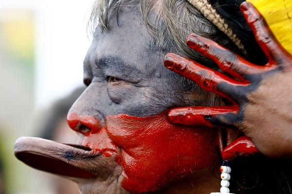 Chief Raoni of Kayapo Indians
