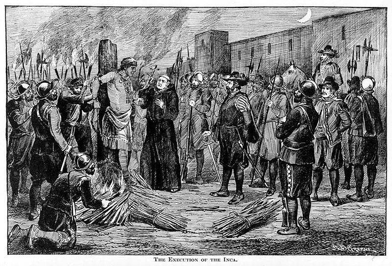 The Execution of the Inca Emperor, Atahualpa