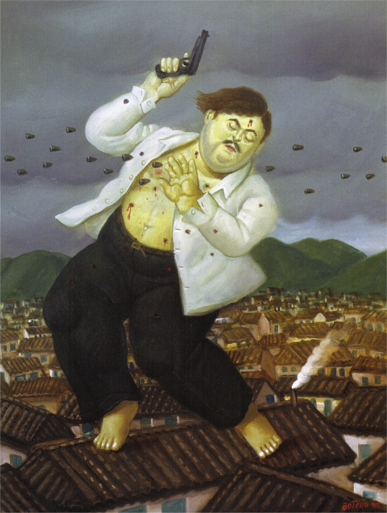 death of Pablo Escobar by Botero